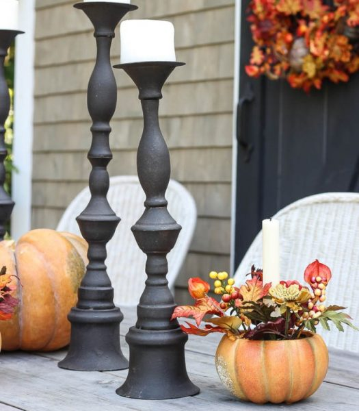 Autumn Medley Taper Holders & Wrought Iron Candle Holders