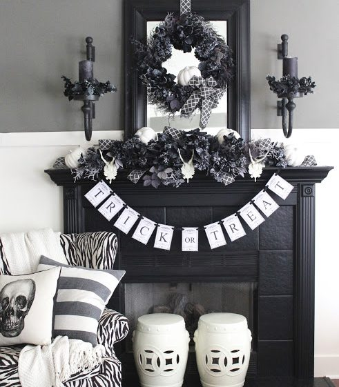 Halloween Night Wreath, Matel Swag, Candle Rings, & LED Candles