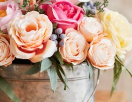 Close up of a Brittany Rose Arrangement