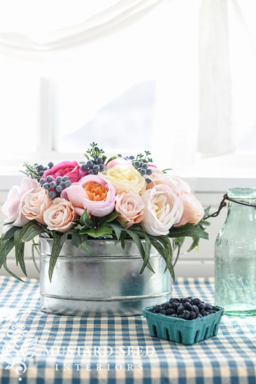 Brittany Rose Arrangement in Miss Mustard Seed