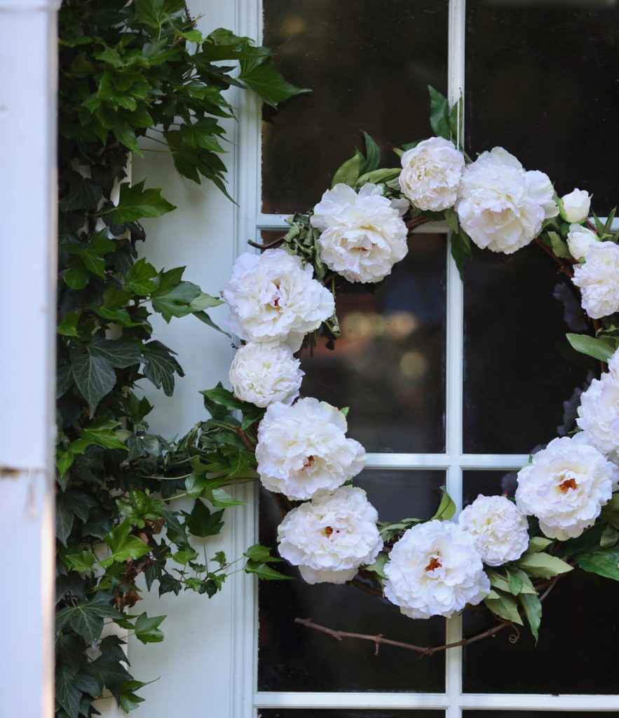 Peony Spring Wreath by Courtney of French Country Cottage