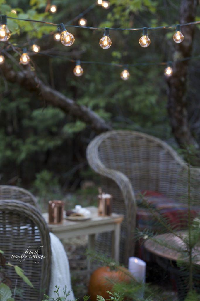 outdoor LED cafe lights