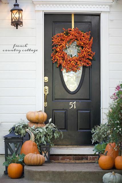 Fall wreath decor