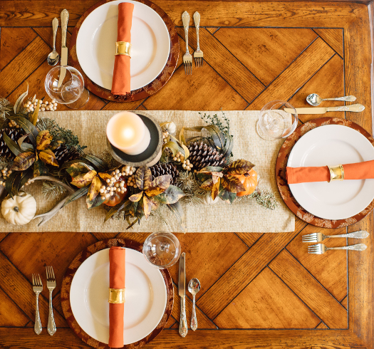 fall garland tablescape ideas