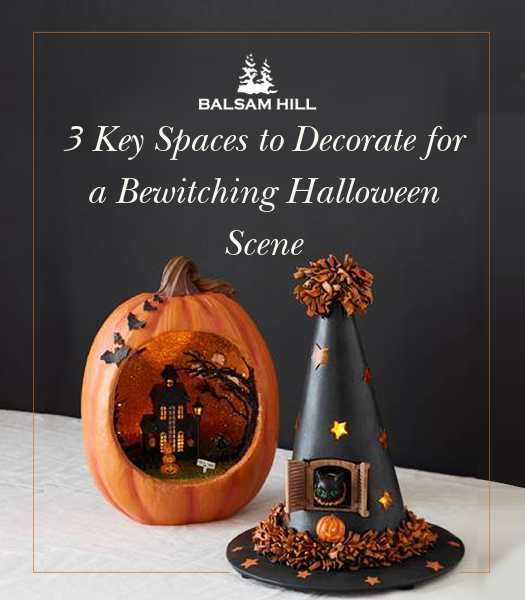 3 Key Spaces to Decorate for a Bewitching Halloween Scene