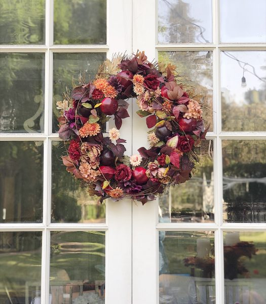 Leslie's Rosewood Pomegranate Wreath