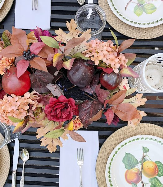 Leslie's Rosewood Pomegranate Centerpiece