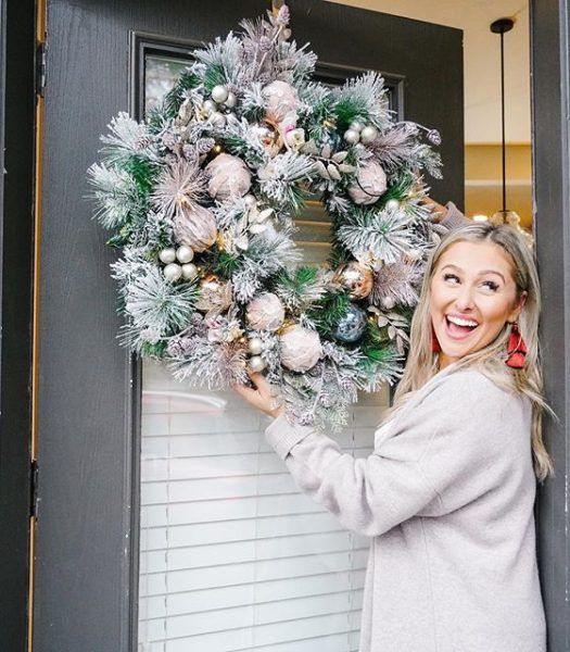 Winter Wishes Wreath styled by Mallory Ervin