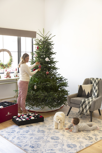 Decorating a Balsam Hill tree