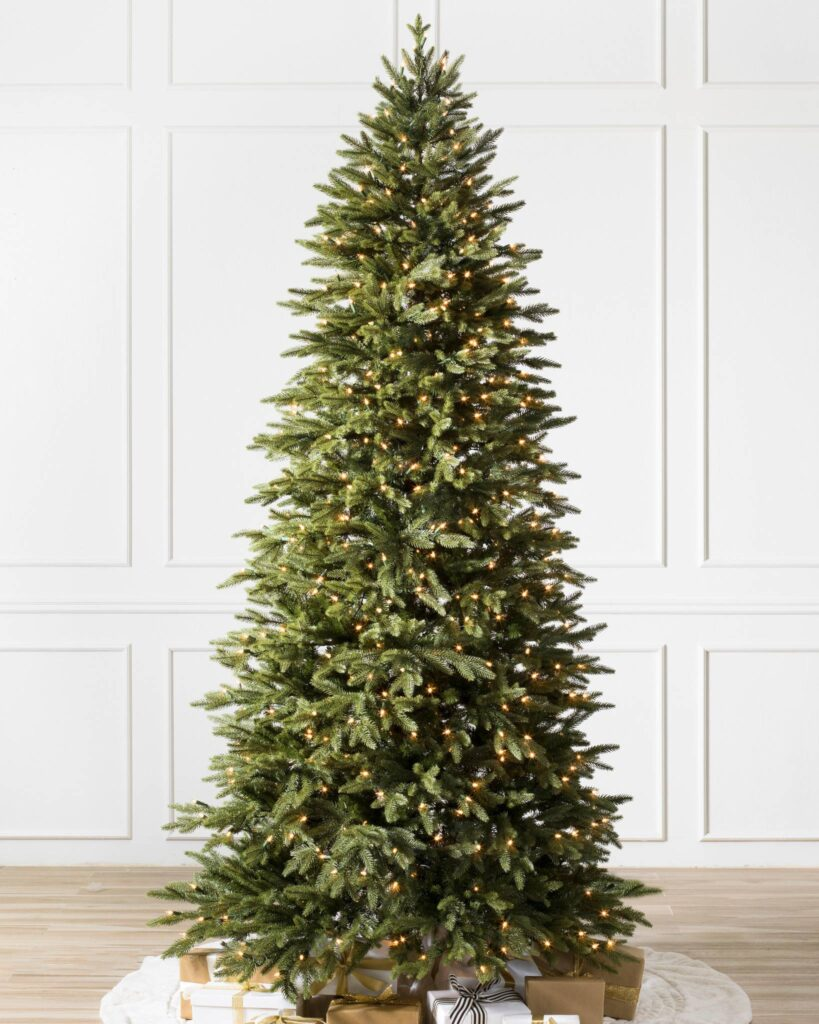 Undecorated Balsam Hill Pre-lit Silverado Slim Christmas Tree