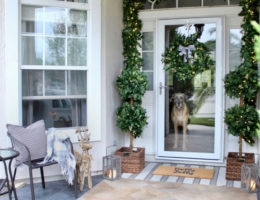 Porch Christmas decorating for warm weather