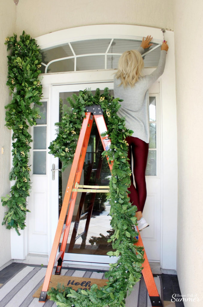 Decorating with White Berry Cypress Garland