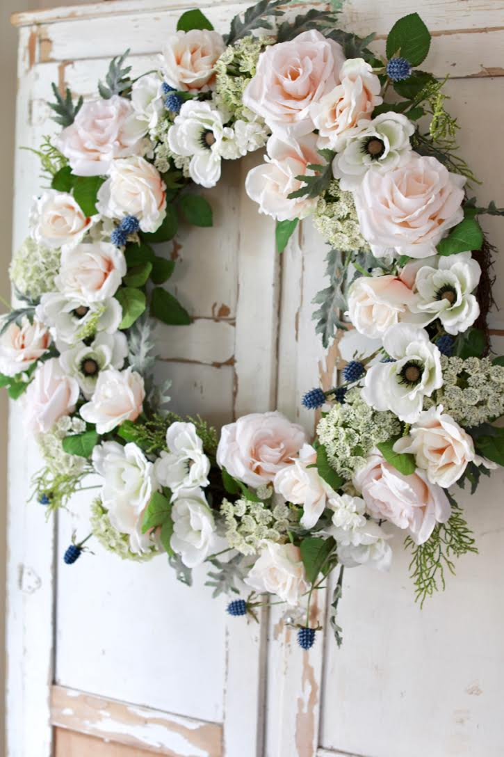 Balsam Hill Chantilly floral wreath