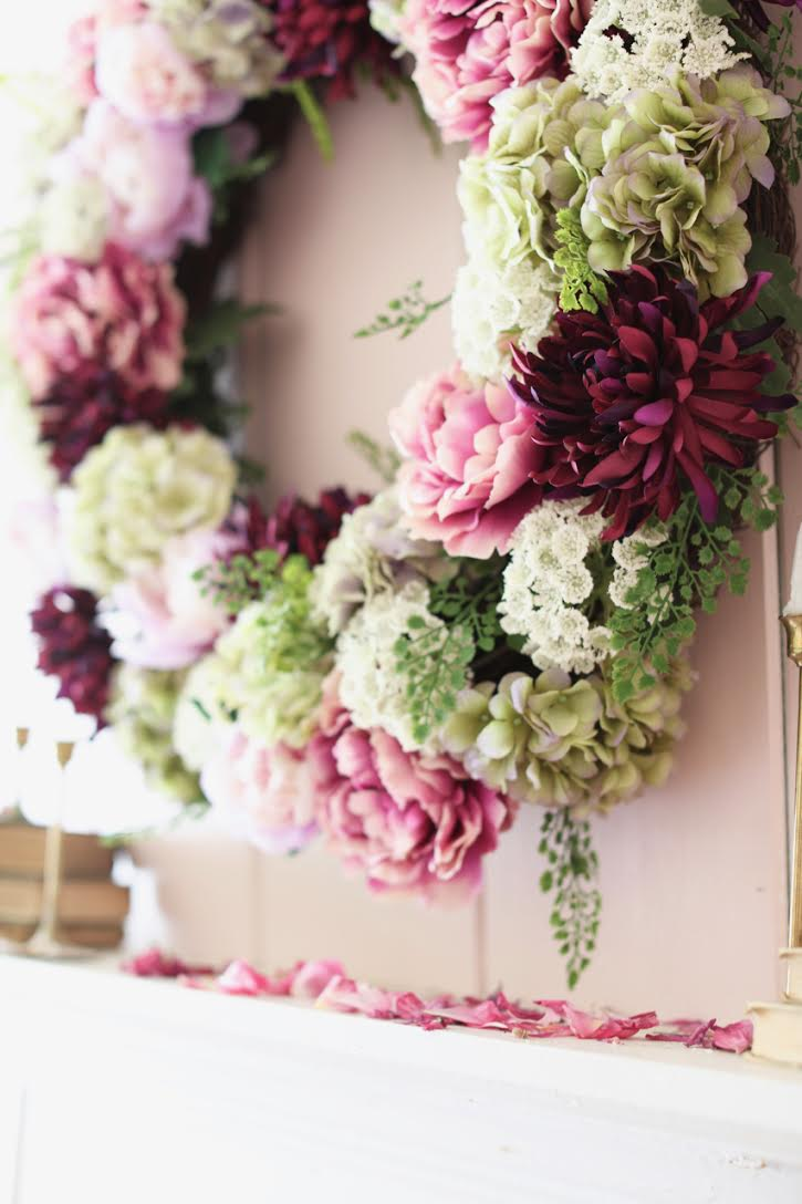 Balsam Hill peony floral wreath
