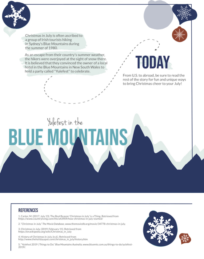 Christmas in July History of Yulefest in Blue Mountains Australia Infographic