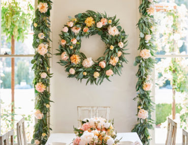 Balsam Hill Napa Romance Artificial Wreath and Garland