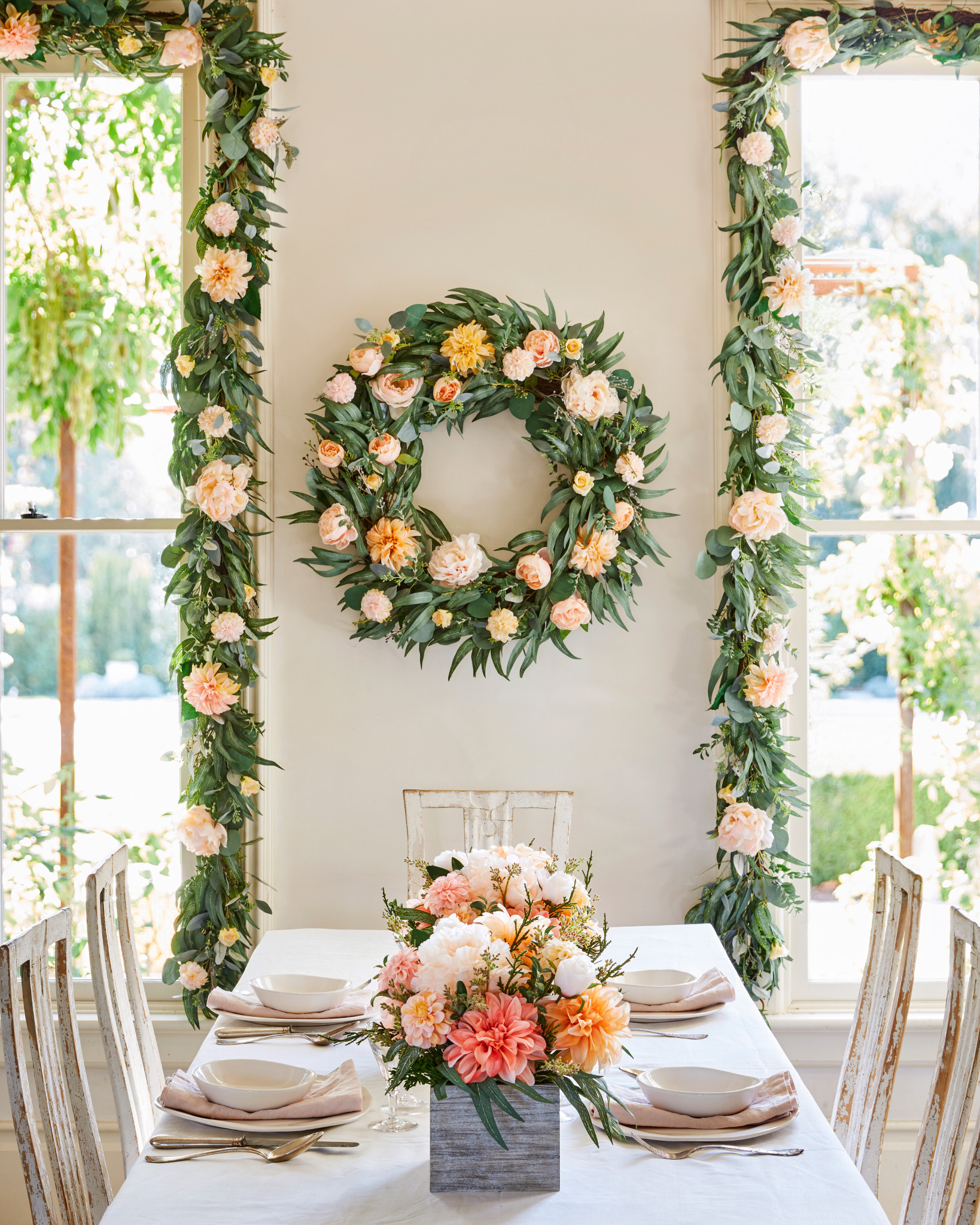 Balsam Hill Napa Romance Artificial Wreath and Garland