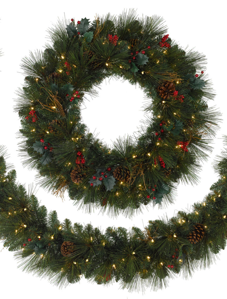 Balsam Hill Greenbrier Mountain Artificial Wreath and Garland