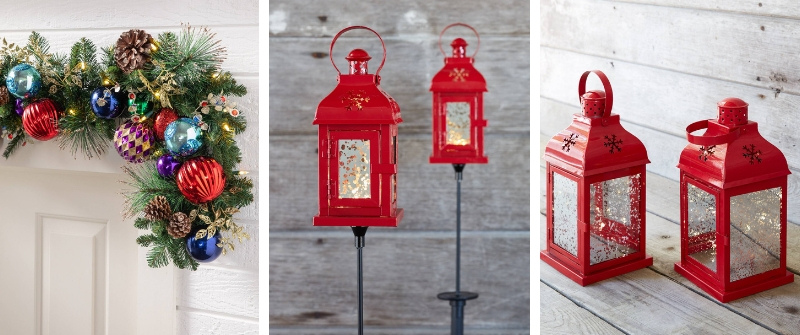 Outdoor LED Holiday Lanterns and a Kaleidoscope Garland
