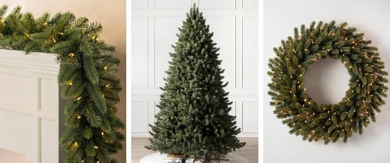 Vermont White Spruce Tree, Wreath, and Garland