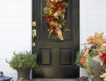 Fall front door decoration