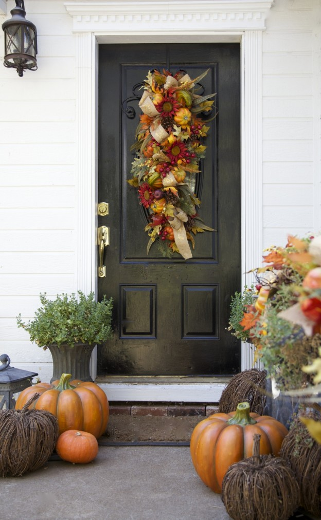 Fall front door decoration