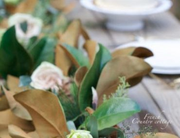 French Country Cottage outdoor setup with Balsam Hill