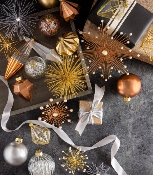 Nicole Miller designer Christmas ornaments