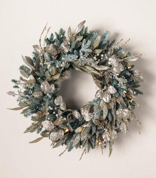 Balsam Hill Nicole Miller Champagne Wreath