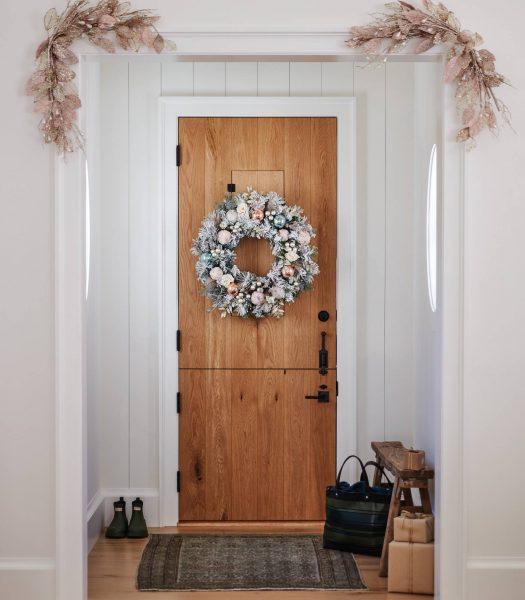 Balsam Hill Winter Wishes Wreath on door