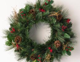 Balsam Hill Greenbrier Mountain Pine Wreath