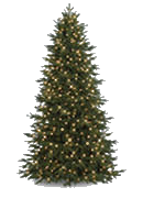 narrow artificial christmas tree