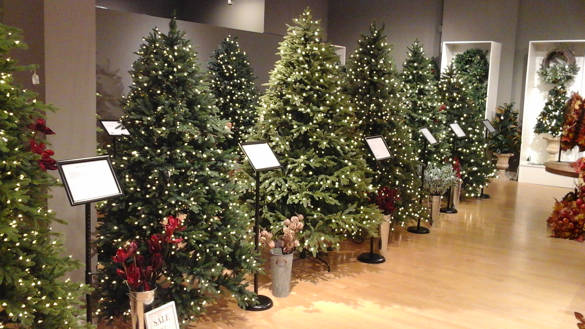 Balsam Hill trees in store at Cherry Hill Mall