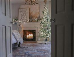 Frosted Alpine Balsam Fir inside the bedroom