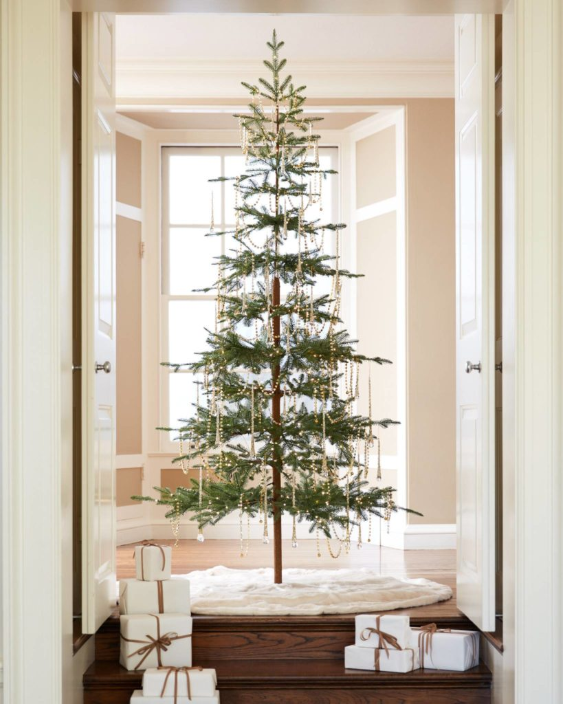 6.5' Balsam Hill Alpine Balsam Fir pre-lit decorated artificial Christmas tree sale clearance