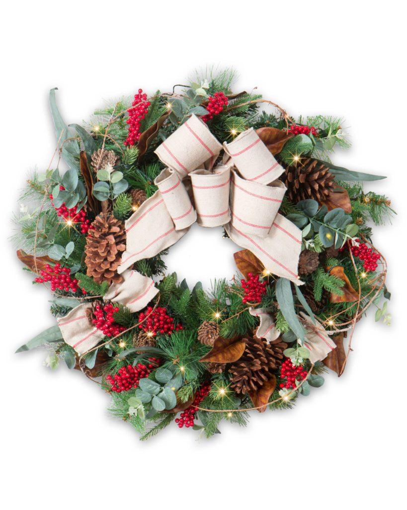 """Balsam Hill 28"""" Farmhouse Christmas wreath clearance"""