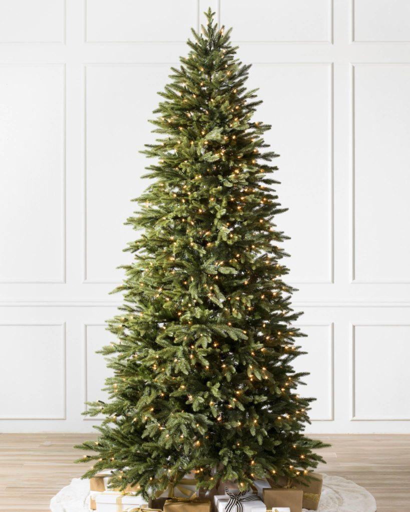Balsam Hill Silverado Slim 9 ft pre-lit Christmas tree clearance
