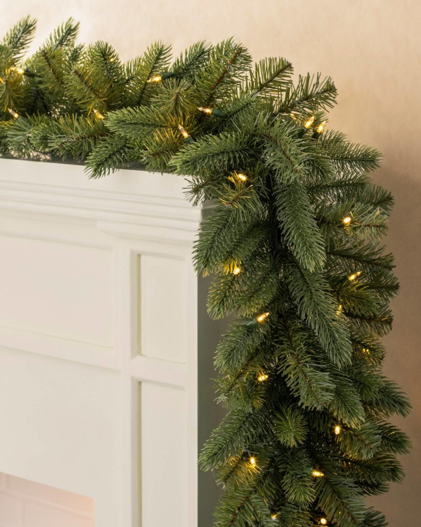Balsam Hill 10' Vermont White Spruce Christmas garland clearance