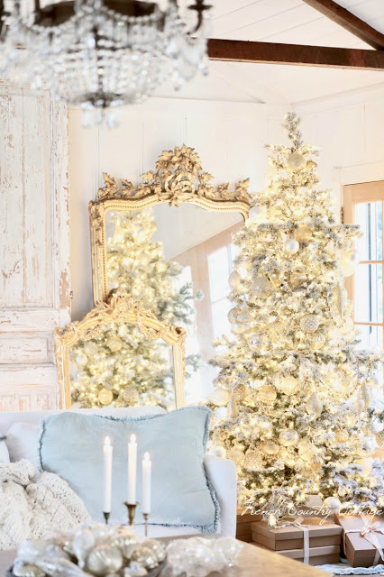 French country Christmas tree ideas
