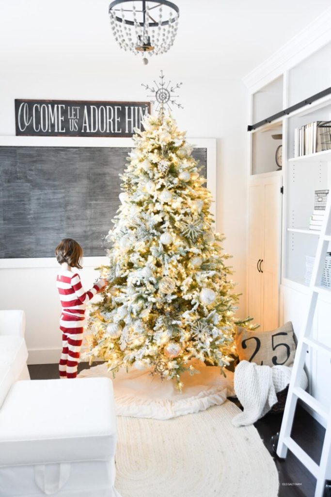 Minimalist winter wonderland Christmas tree theme ideas