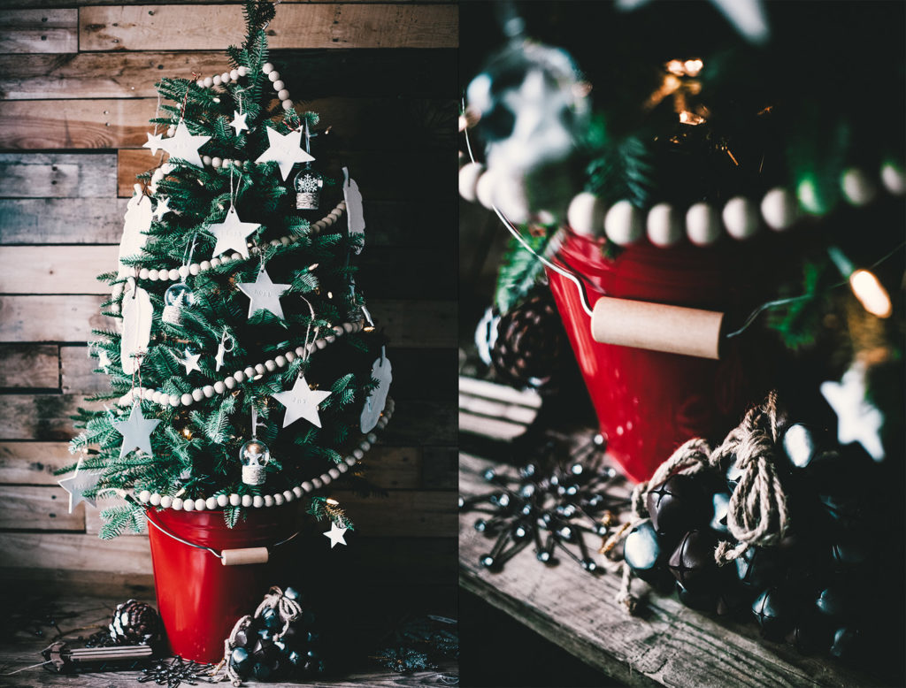 Rustic Christmas tree theme decorating ideas