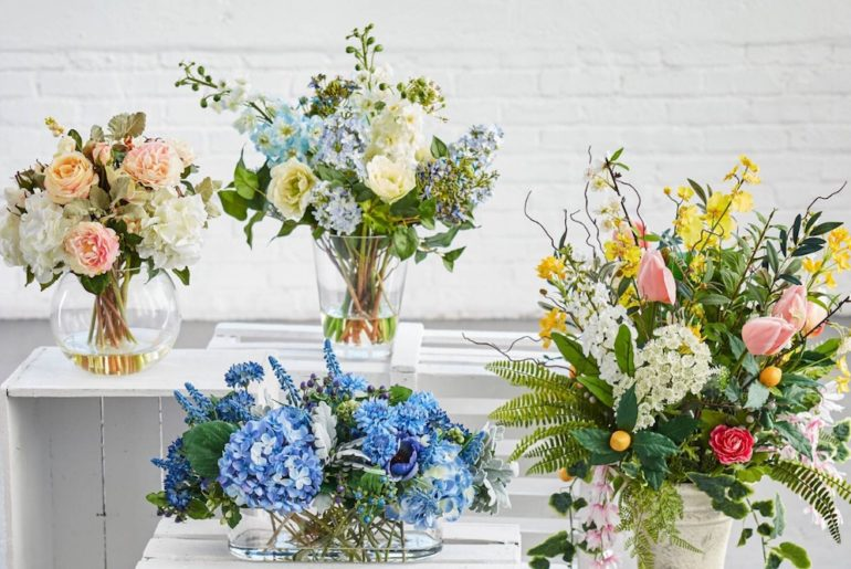 how to clean artificial flowers in different arrangements