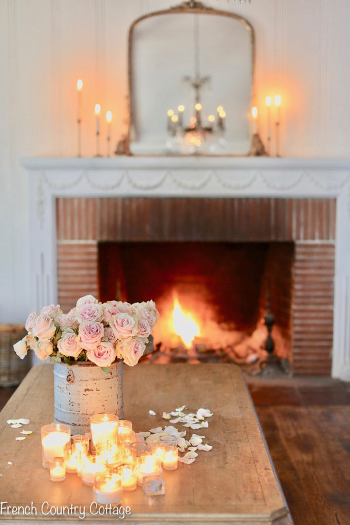 Home decorating idea with candles from French Country Cottage
