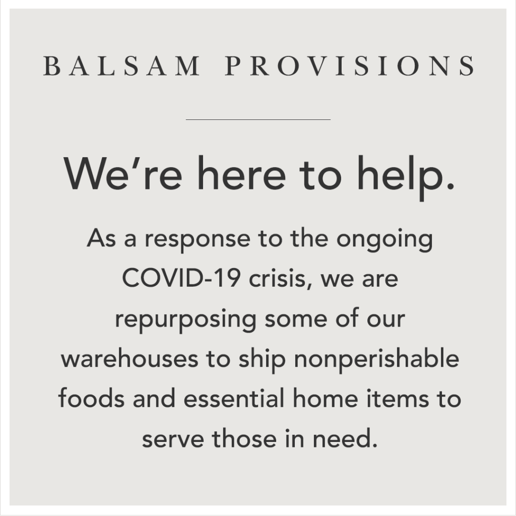 Balsam Provisions