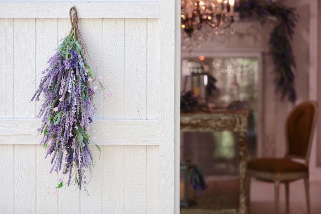 Provencal Lavender Swag on Door