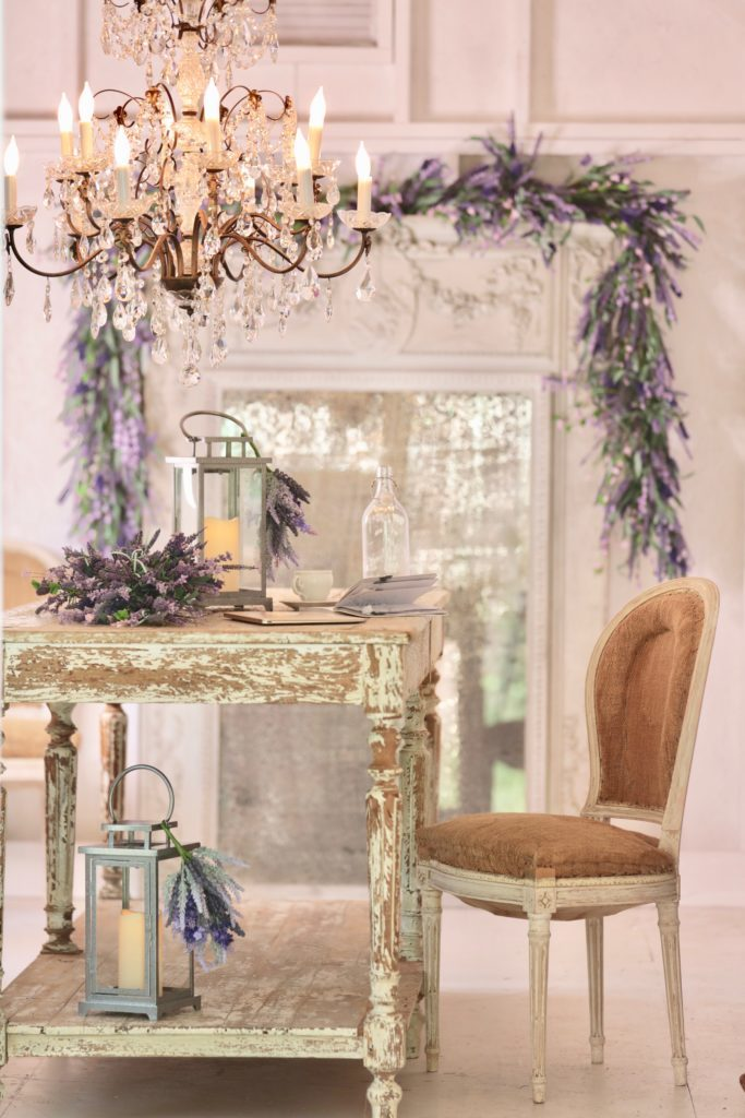 Provencal Lavender Artificial Greenery Decor