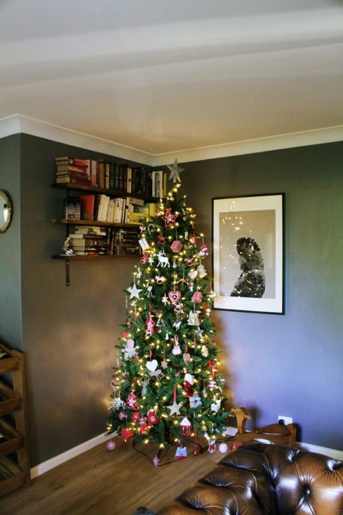 Decorated Balsam Hill Christmas tree
