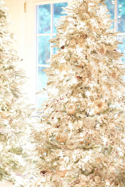 french country christmas tree theme