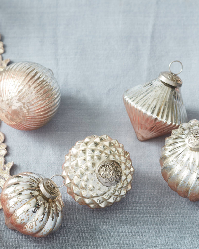 close up of french country ornaments