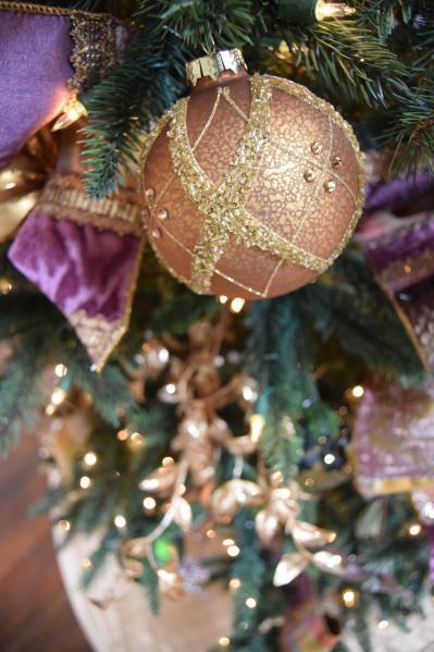 christmas ball ornament on tree
